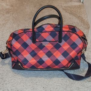 Red plaid duffle bag Vera Bradley